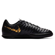 Nike Tiempo LegendX VII Club Kids Indoor Soccer Shoes Black / Gold US 1, Black / Gold, rebel_hi-res