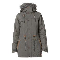 Rojo Womens Task Jacket Grey XS, Grey, rebel_hi-res