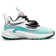 Nike Freak 3 Kids Basketball Shoes White US 4, White, rebel_hi-res