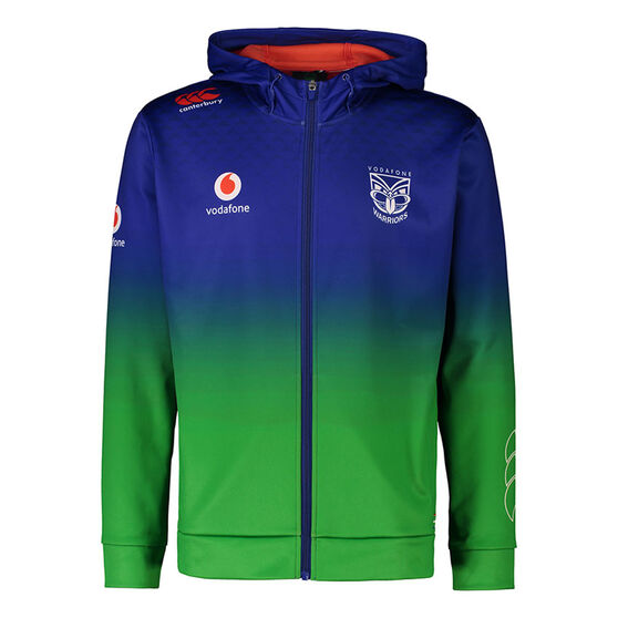 New Zealand Warriors 2021 Mens Full Zip Hoodie, Blue, rebel_hi-res