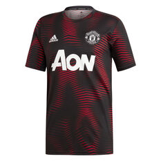 Manchester United FC 2018/19 Mens Training Jersey Black S, Black, rebel_hi-res