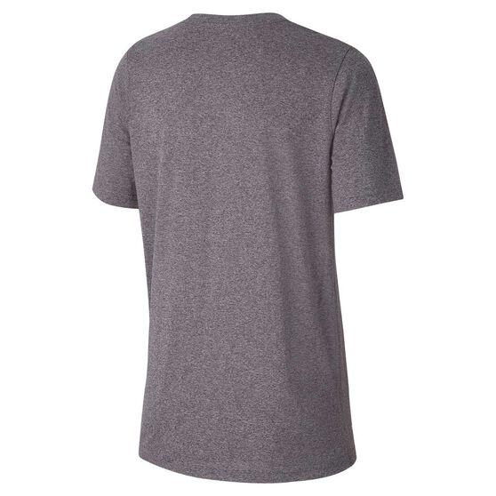 Nike Boys Dry Legend Swoosh Training Tee, Grey / White, rebel_hi-res