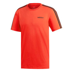 adidas Mens Essentials 3 Stripes Tee Red S, Red, rebel_hi-res