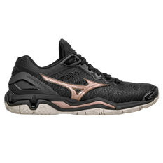 Mizuno Wave Stealth V Womens Netball Shoes Black US 6.5, Black, rebel_hi-res