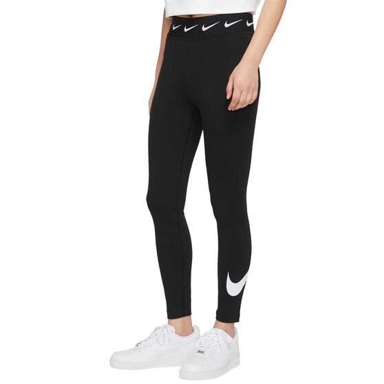 Nike Womens Sportswear Club High-Waisted Leggings Black XS, Black, rebel_hi-res