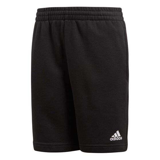 adidas Boys Logo Shorts Black / White 8, Black / White, rebel_hi-res