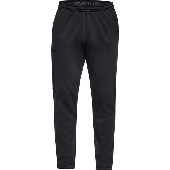 Under Armour Mens Volume Fleece Pants, Black, rebel_hi-res
