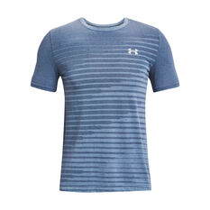 Under Armour Mens Seamless Fade Short Sleeve Tee, Blue, rebel_hi-res