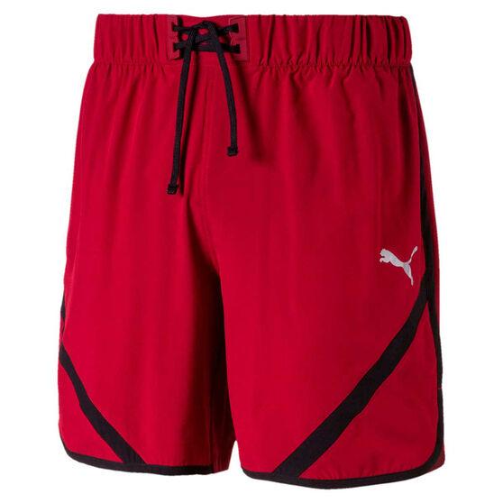 Puma Mens GetFast 7in Shorts, Red / Black, rebel_hi-res