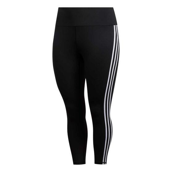 adidas Womens Believe this 7/8 Tights Plus, Black, rebel_hi-res