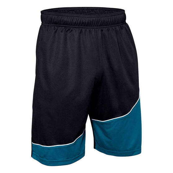 Under Armour Mens Baseline Basketball Shorts Black S, Black, rebel_hi-res