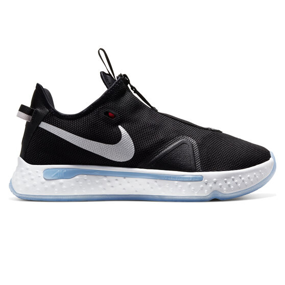 Nike PG 4 Mens Basketball Shoes Black / White US 10, Black / White, rebel_hi-res