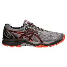 Asics GEL Fuji Trabuco 6 Mens Trail Running Shoes Grey / Orange US 7, Grey / Orange, rebel_hi-res