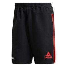 Crusaders 2020 Mens Club Shorts Black S, Black, rebel_hi-res