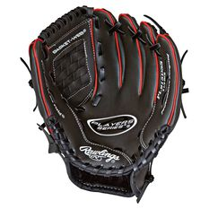 Rawlings Players Left Hand 9.5 Ball Glove Grey / Red, , rebel_hi-res