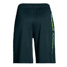 Under Armour Boys Prototype Wordmark Training Shorts Green XS, Green, rebel_hi-res