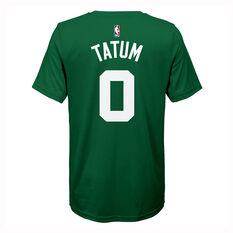 Nike Boston Celtics Jayson Tatum 2019/20 Kids Icon Tee Green S, Green, rebel_hi-res