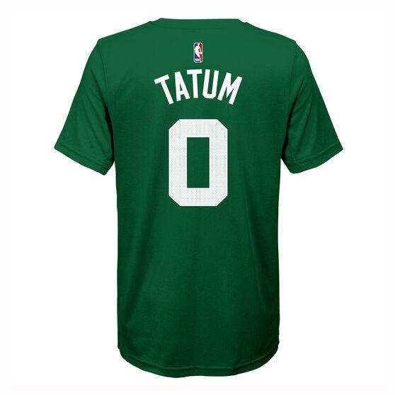 Nike Boston Celtics Jayson Tatum 2019/20 Kids Icon Tee, Green, rebel_hi-res
