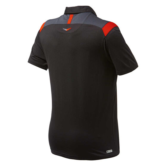 Essendon Bombers 2019 Mens Media Polo, Black, rebel_hi-res