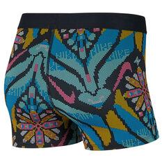 Nike Womens Pro 3in Printed Shorts Print XS, Print, rebel_hi-res