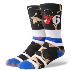 Stance Mens Philadelphia 76ers Acid Wash Socks Multi M, Multi, rebel_hi-res