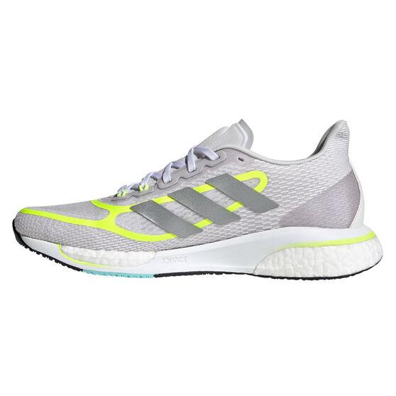 adidas Supernova Womens Running Shoes, Grey/Yellow, rebel_hi-res