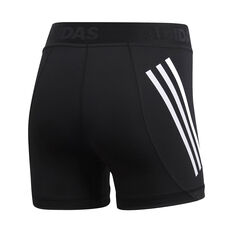 adidas Womens Alphaskin Sport Short Tights Black XS, Black, rebel_hi-res