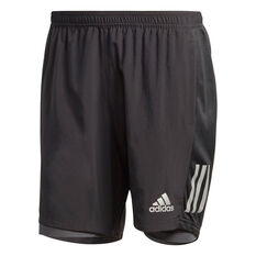 adidas Mens Own The Run 2 in 1 Running Shorts Black XS, Black, rebel_hi-res