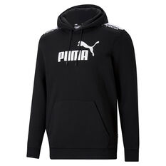 Puma Mens Amplified Hoodie Black XS, Black, rebel_hi-res