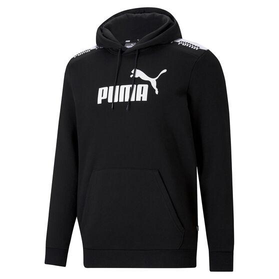 Puma Mens Amplified Hoodie, Black, rebel_hi-res