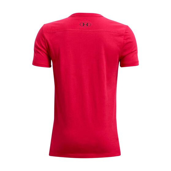 Under Armour Boys Project Rock SMS Tee, Red/Black, rebel_hi-res