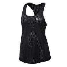 Running Bare Womens Back to Bare Action Back Tank Black 8, Black, rebel_hi-res