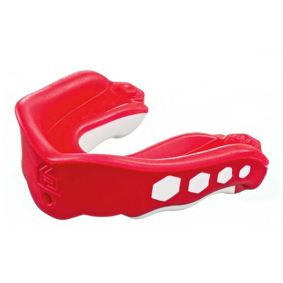 Shock Doctor Gel Max Fruit Punch Flavour Fusion Mouthguard, Red, rebel_hi-res