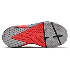 Under Armour HOVR Apex 2 Mens Training Shoes, Grey/Red, rebel_hi-res