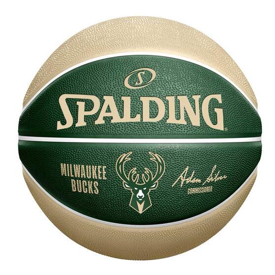 Spalding NBA Team Series Milwaukee Bucks Basketball, , rebel_hi-res