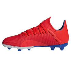 adidas X 18.3 Kids Football Boots Red / Silver US 11, Red / Silver, rebel_hi-res