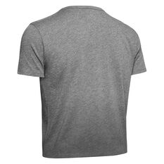 Under Armour Womens Project Rock Bull Graphic Tee Grey XS, Grey, rebel_hi-res
