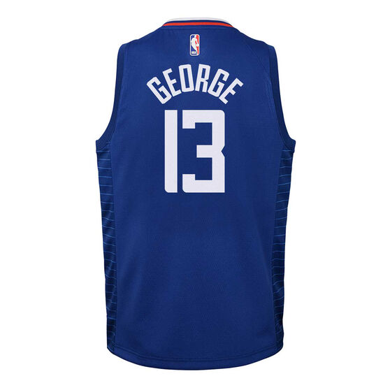 Nike Los Angeles Clippers Paul George 2019/20 Youth Icon Edition Swingman, Blue, rebel_hi-res