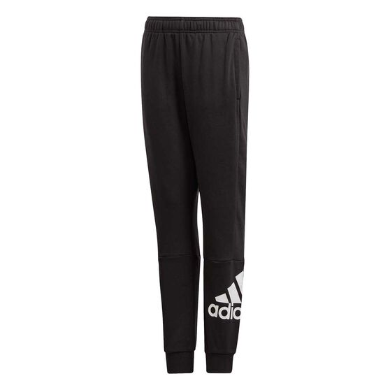 adidas Boys Must Haves Badge of Sport Pants, Black / White, rebel_hi-res