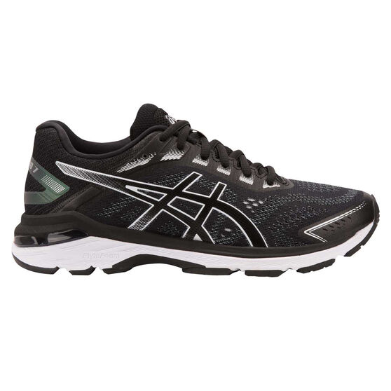Asics GT 2000 7 Womens Running Shoes, Black / White, rebel_hi-res