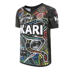 Indigenous All Stars 2020 Kids Home Jersey Black 6, Black, rebel_hi-res