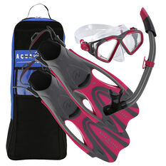 Aqua Lung Sport Adult Hawkeye Snorkel Set Pink S / M, Pink, rebel_hi-res
