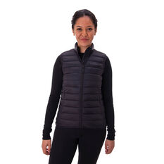 Macpac Womens Uber Light Down Vest Black 8, Black, rebel_hi-res