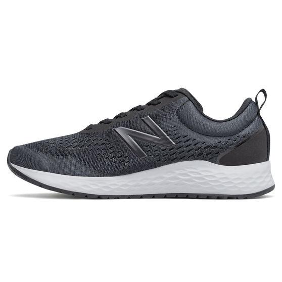 New Balance Fresh Foam Arishi v3 Womens Running Shoes, Black/White, rebel_hi-res