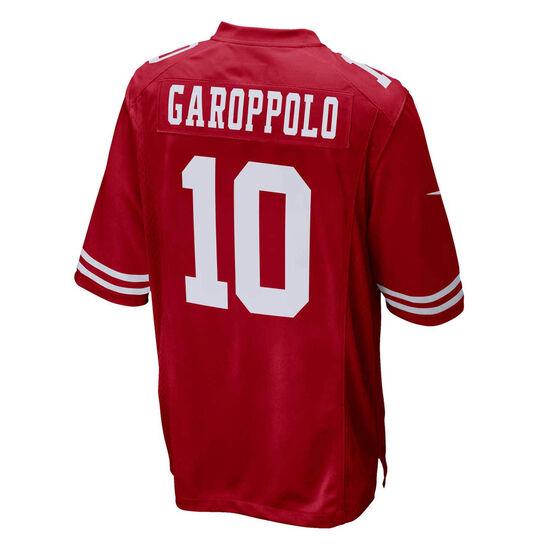 San Francisco 49ers Jimmy Garoppolo Mens Jersey, Red, rebel_hi-res