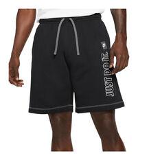 Nike Mens Sportswear Just Do It Brushed Back Fleece Shorts Black XS, Black, rebel_hi-res