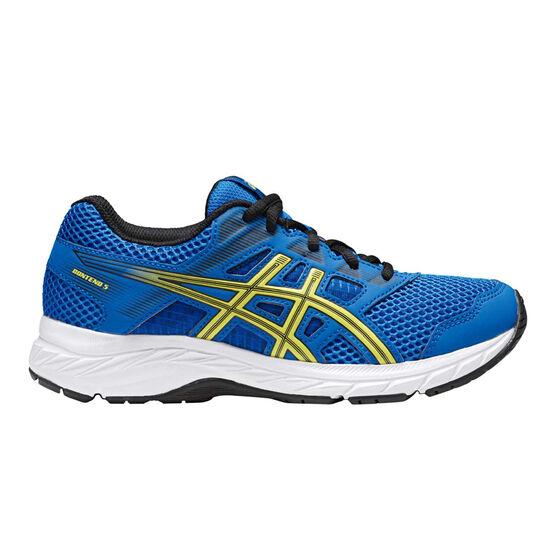 Asics Gel Contend 5 Kids Running Shoes, Blue, rebel_hi-res