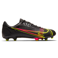 Nike Mercurial Vapor 14 Academy Football Boots Black US Mens 4 / Womens 5.5, Black, rebel_hi-res
