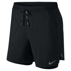 Nike Mens Flex Stride 7in 2 in 1 Running Shorts Black XS, Black, rebel_hi-res