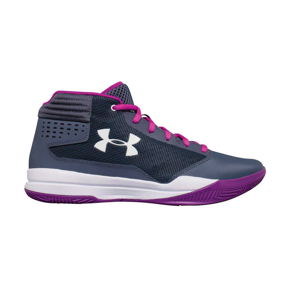 3d5efa3f95a Under Armour Jet 2017 Girls Basketball Shoes Purple   White US 4 ...